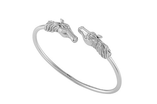 Horse Head Bangle - Double