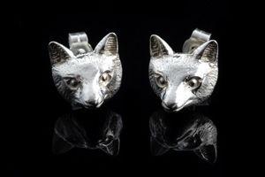 Summer Fox Head Earrings