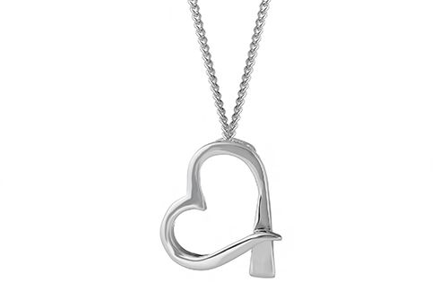 Farrier Nail Heart Necklace - Small