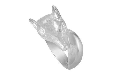 Fox Head and Tail Ring