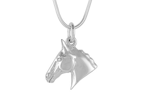 Horse Head Necklace - Hunter