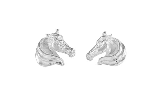 Large Horse Head Earrings
