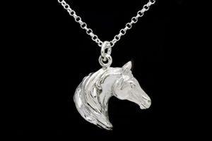 Large Arab Horse Head Necklace
