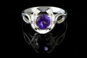 Horseshoe Ring with Stone