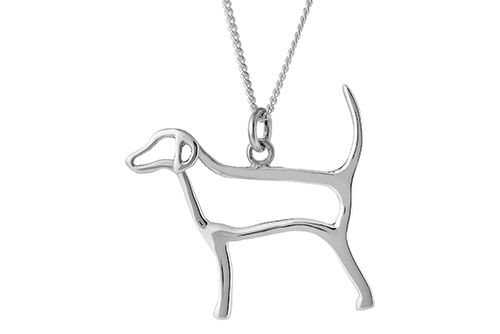Silhouette Fox Hound Necklace