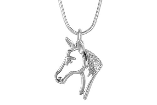 Horse Head Necklace (Silhouette)