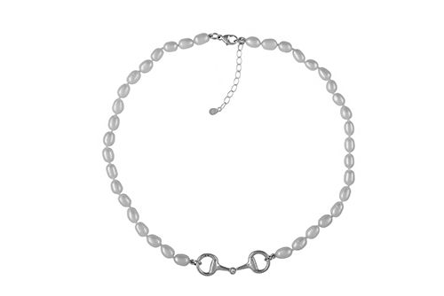 Snaffle Bit and Pearl Necklace