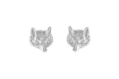 Winter Fox Head Earrings