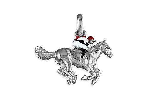 Horse and Jockey Necklace