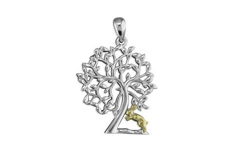 Rabbit Under Tree Necklace